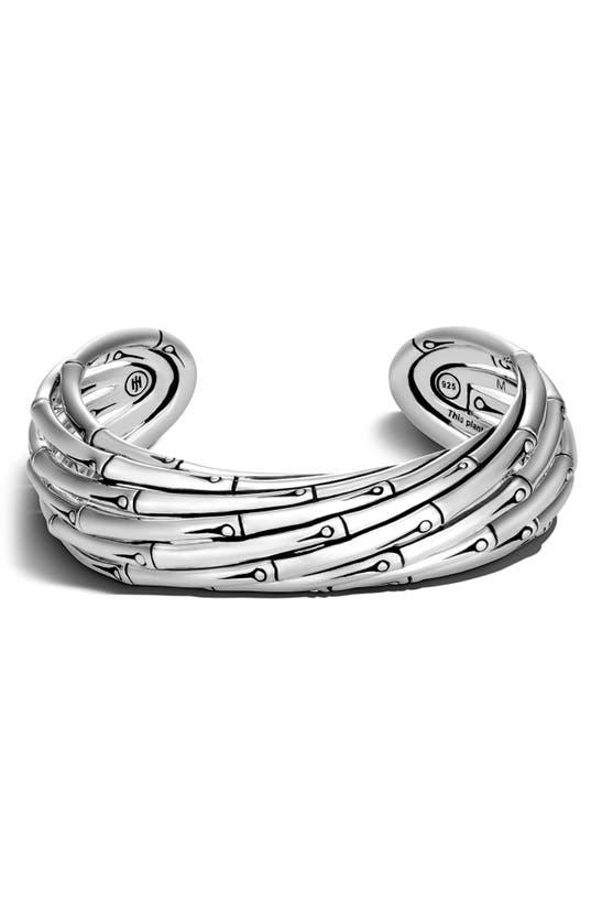 John Hardy Bamboo Cuff Bracelet In Silver