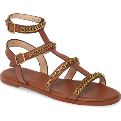 Coach Haddie Gladiator Sandal- Brown