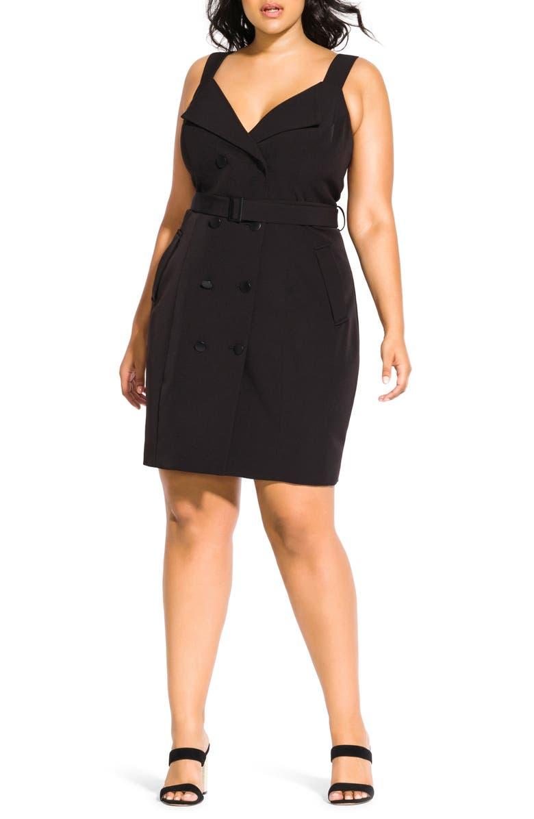 City Chic Tux Dress (Plus Size)   Nordstrom