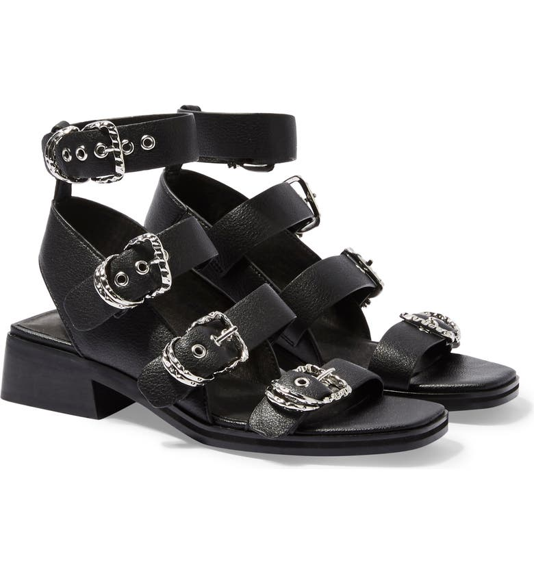 TOPSHOP Victory Strappy Buckle Sandal, Main, color, 001