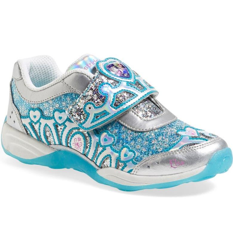 Stride Rite Disney Frozen 174 Elsa 174 Eternal Winter Light Up Princess Sneaker Toddler Amp Little
