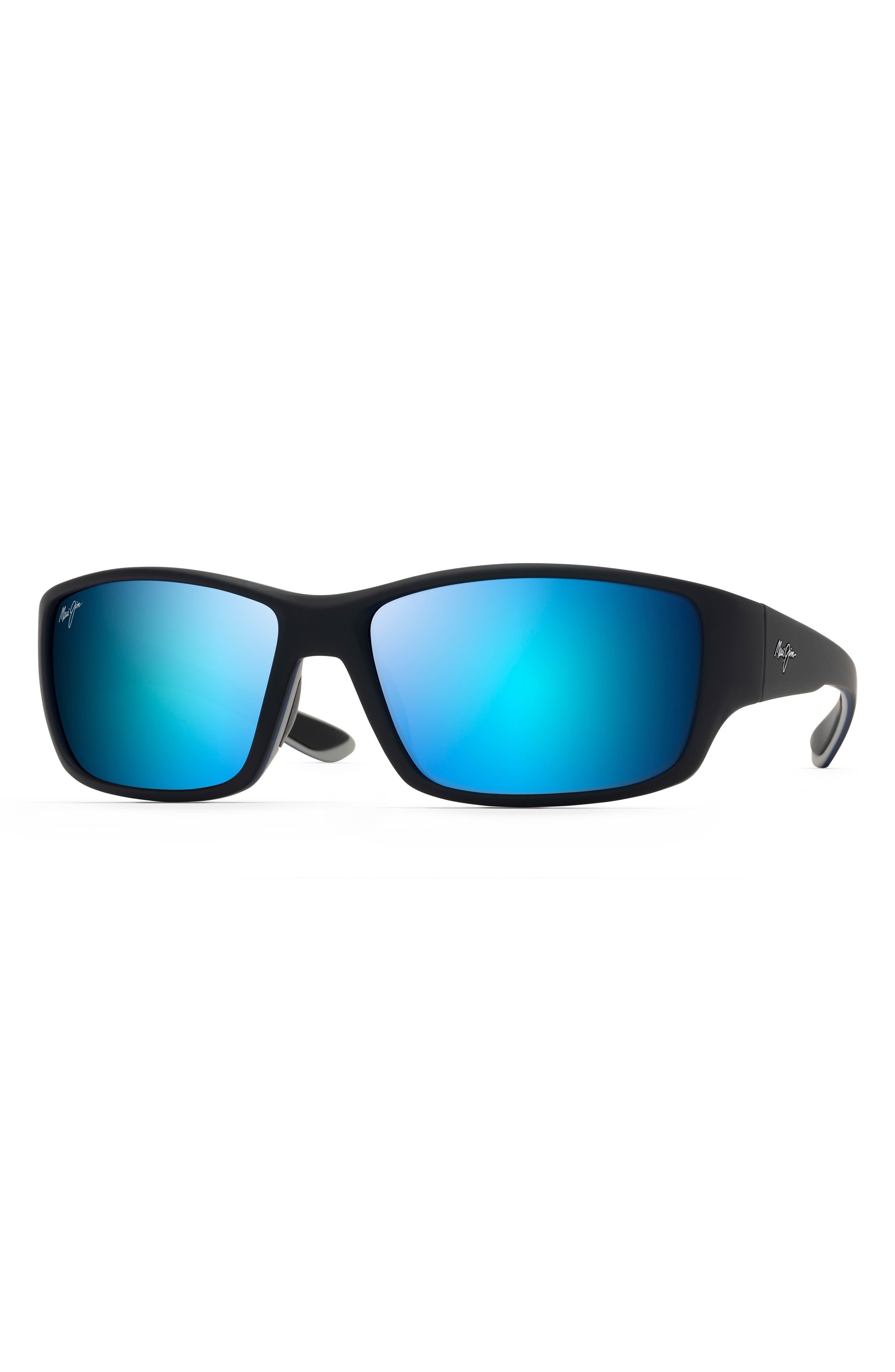 Local Kine 61mm Polarized Wraparound Sunglasses