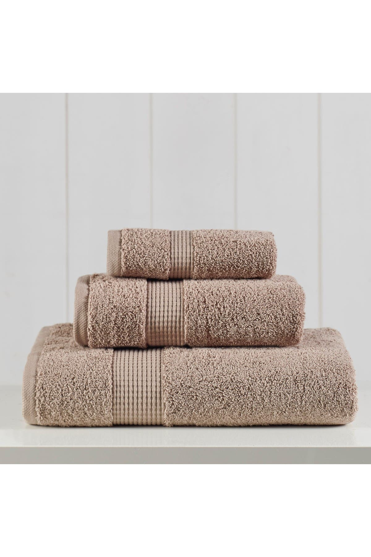 Image of Modern Threads Manor Ridge Turkish Cotton 3-Piece Towel Set - Taupe