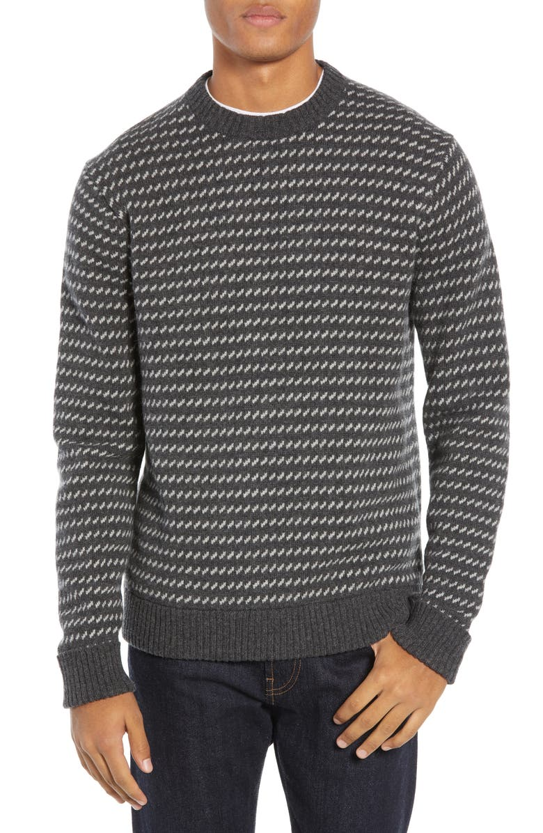 PATAGONIA Recycled Wool Blend Sweater, Main, color, FORGE GREY