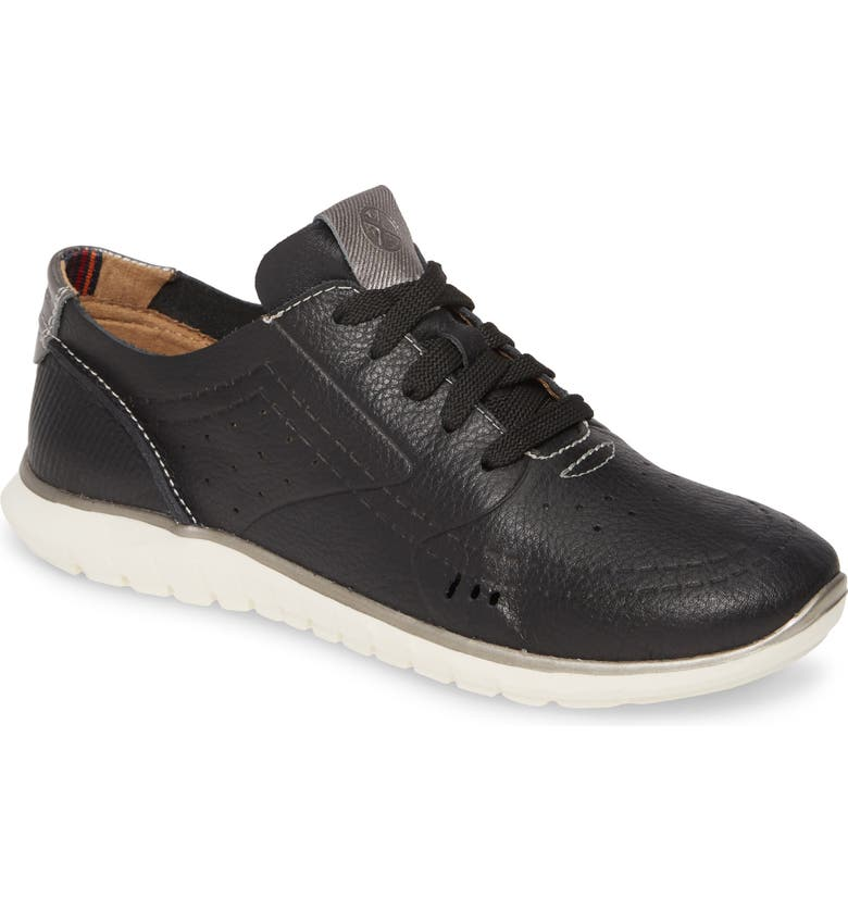HUSH PUPPIES<SUP>®</SUP> Tricia Sneaker, Main, color, BLACK LEATHER