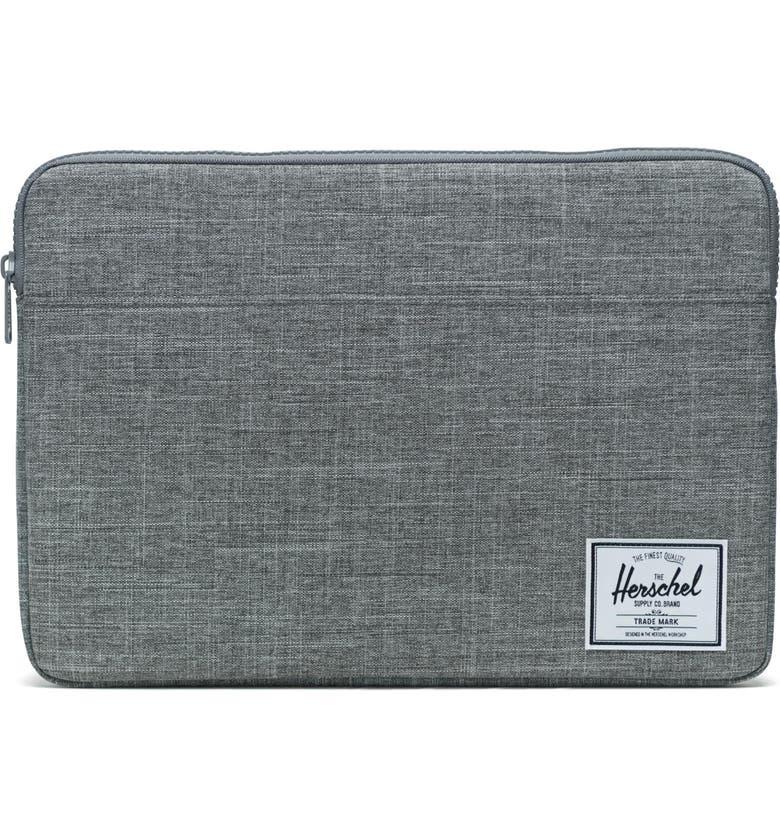 HERSCHEL SUPPLY CO. Anchor 15-Inch MacBook Sleeve, Main, color, RAVEN CROSSHATCH
