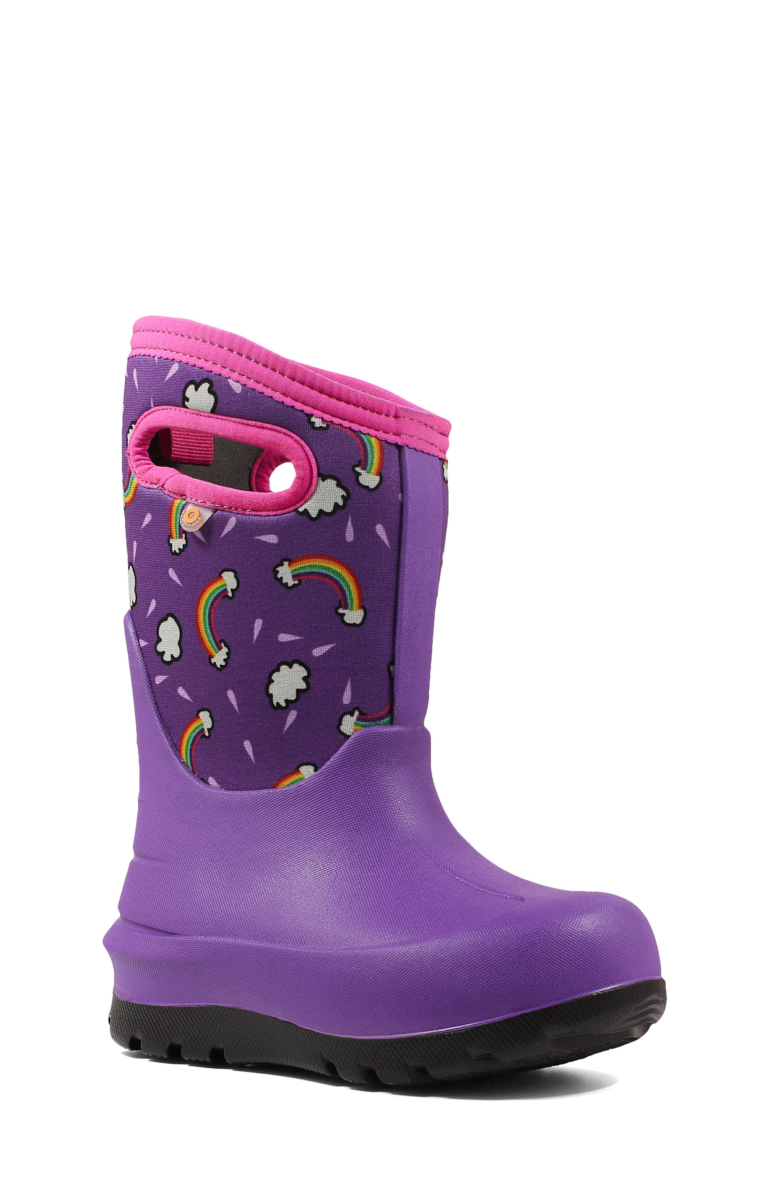 Toddler Girls Bogs Classic Rainbows Insulated Waterproof Boot Size 11 M  Purple