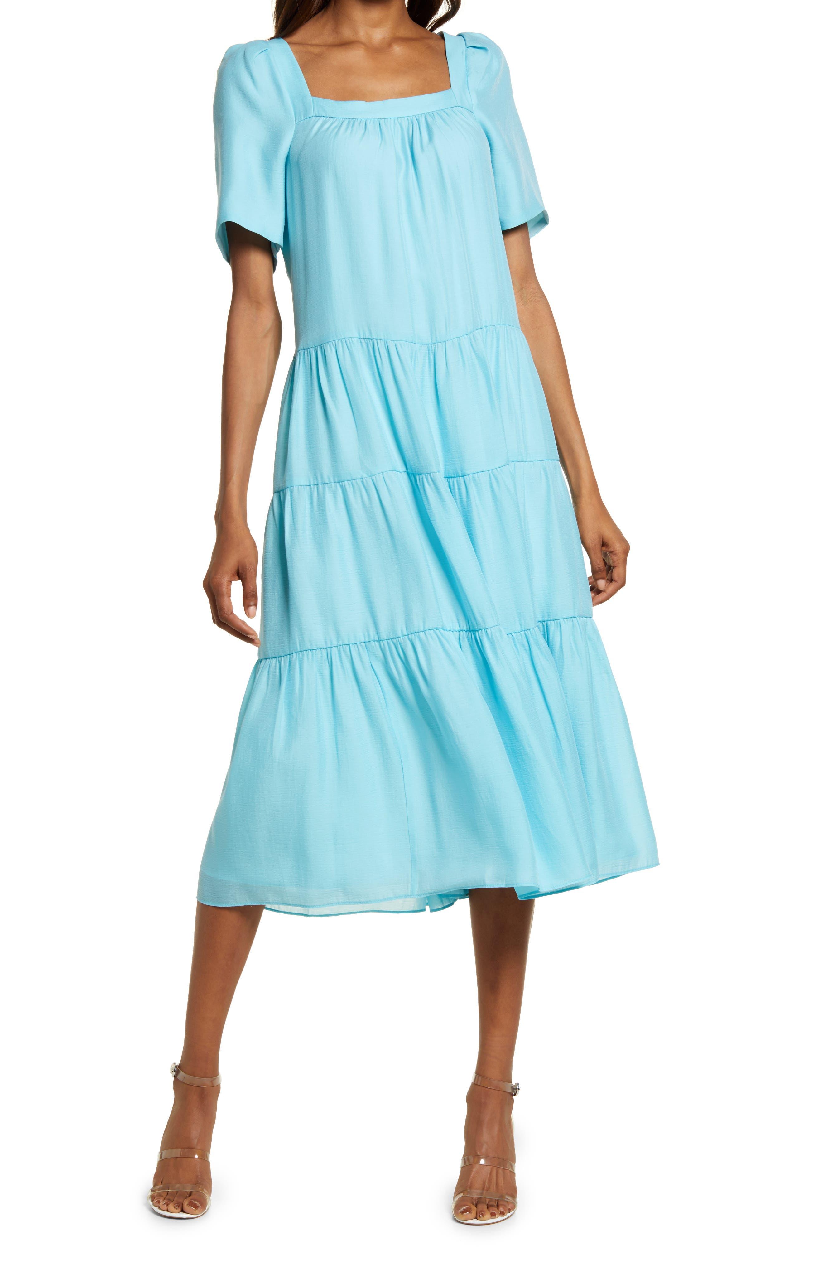 Prue Puff Sleeve Midi Dress