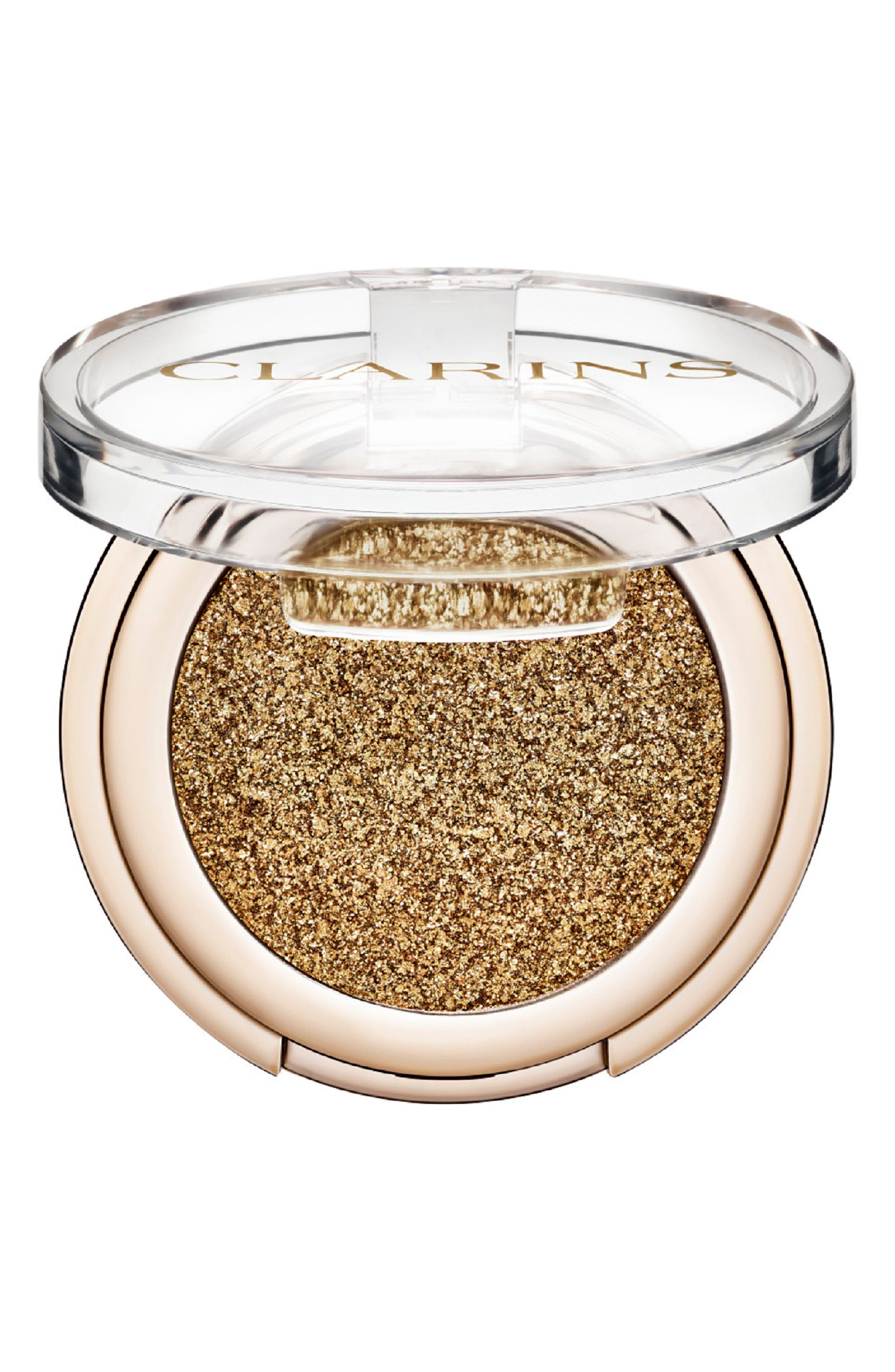 What it is: A sparkling powder eyeshadow that soothes, nourishes and protects the delicate skin on your eyelids while delivering bold metallic pigments. What it does: The stay-put eyeshadow features a sensorial formula that glides on with your fingertips without flaking onto your cheeks, and delivers intense and immediate color results. It\\\'s long-lasting and is great for creating a daring eye look. How to use: Apply with your fingertip or a smudge