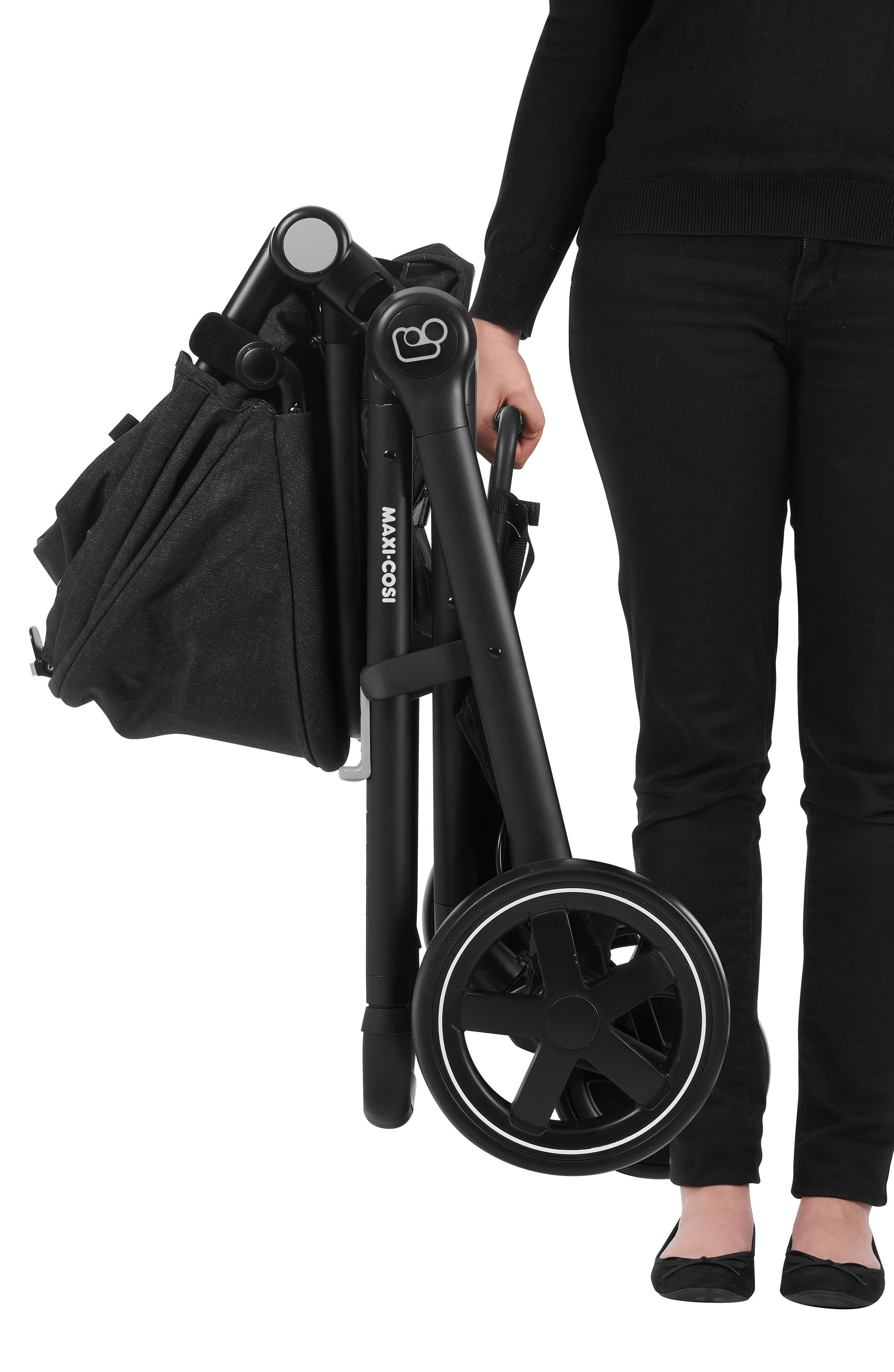 ,                             5-1 Mico 30 Infant Car Seat & Zelia Stroller Modular Travel System,                             Alternate thumbnail 12, color,                             NIGHT BLACK
