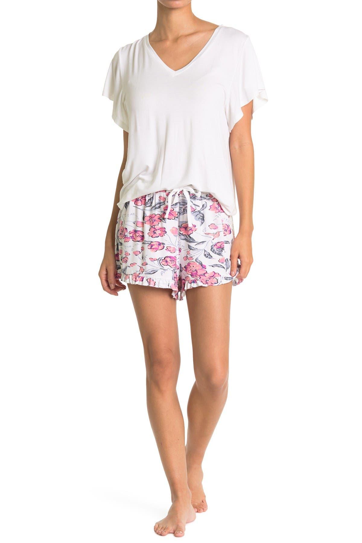 Image of Vera Bradley V-Neck Shirt & Shorts 2-Piece Pajama Set
