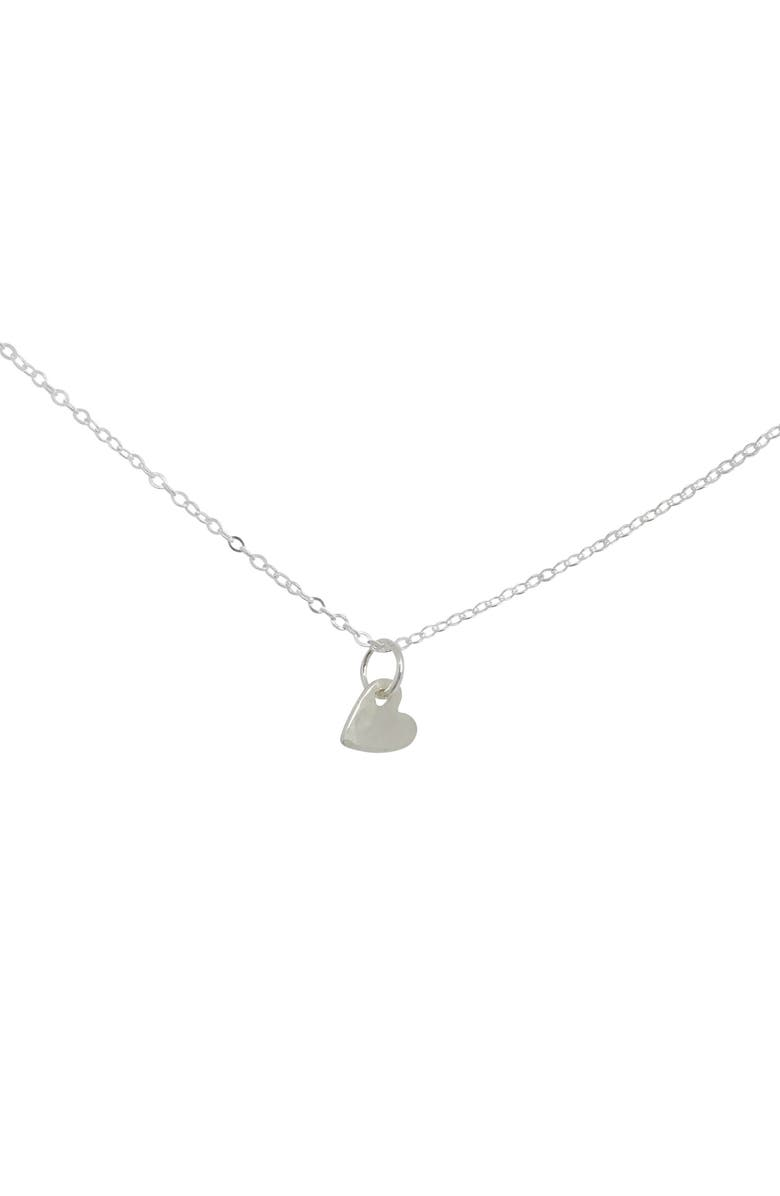 NASHELLE Piece of My Heart Charm Necklace, Main, color, SILVER