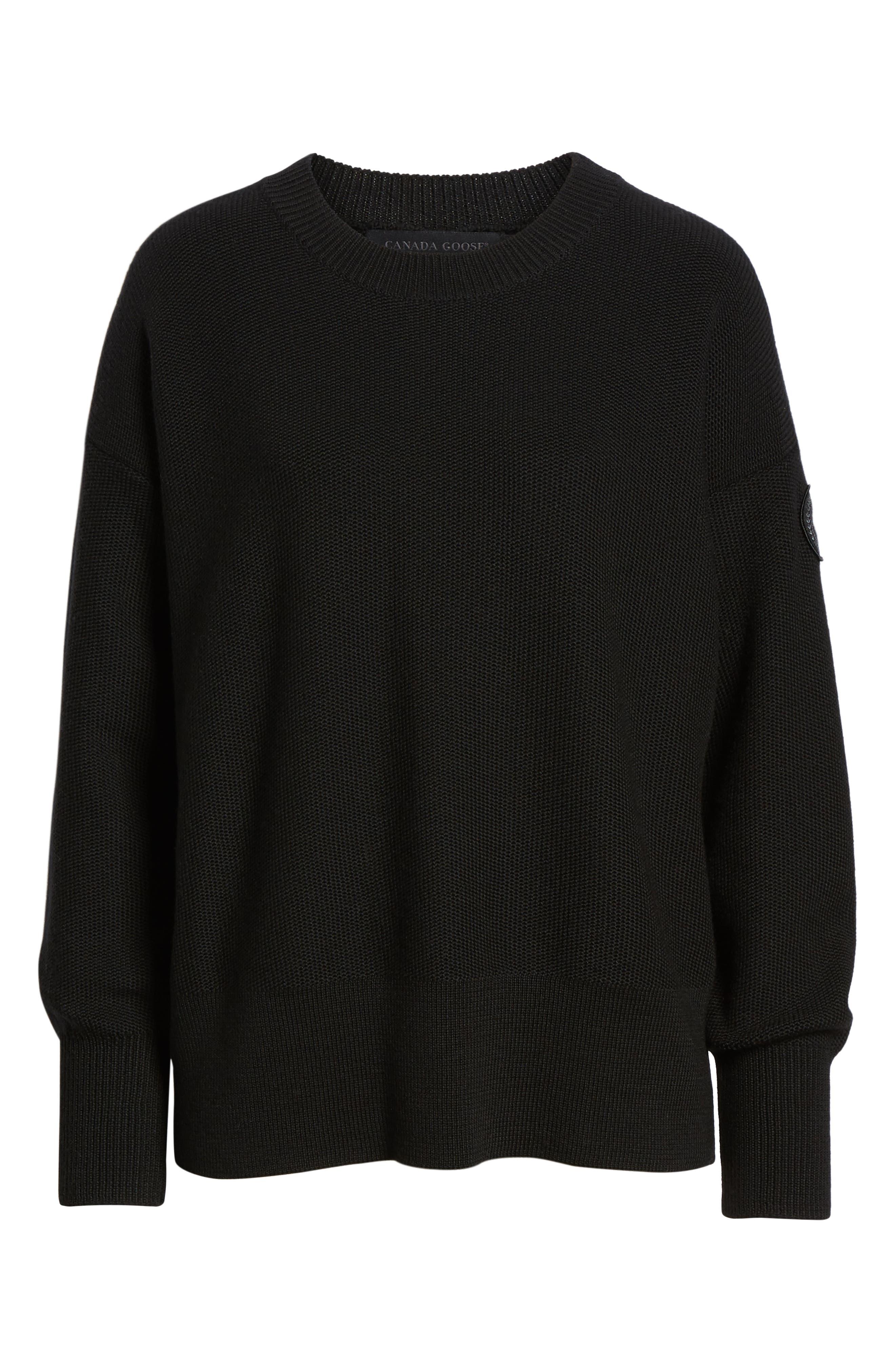 ,                             Aleza Merino Wool Sweater,                             Alternate thumbnail 6, color,                             BLACK