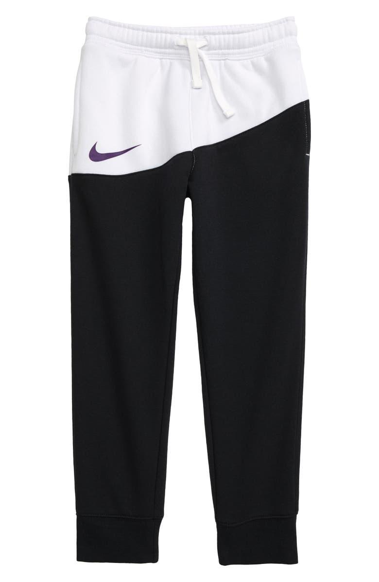 NIKE Sportswear Swoosh Jogger Pants, Main, color, BLACK