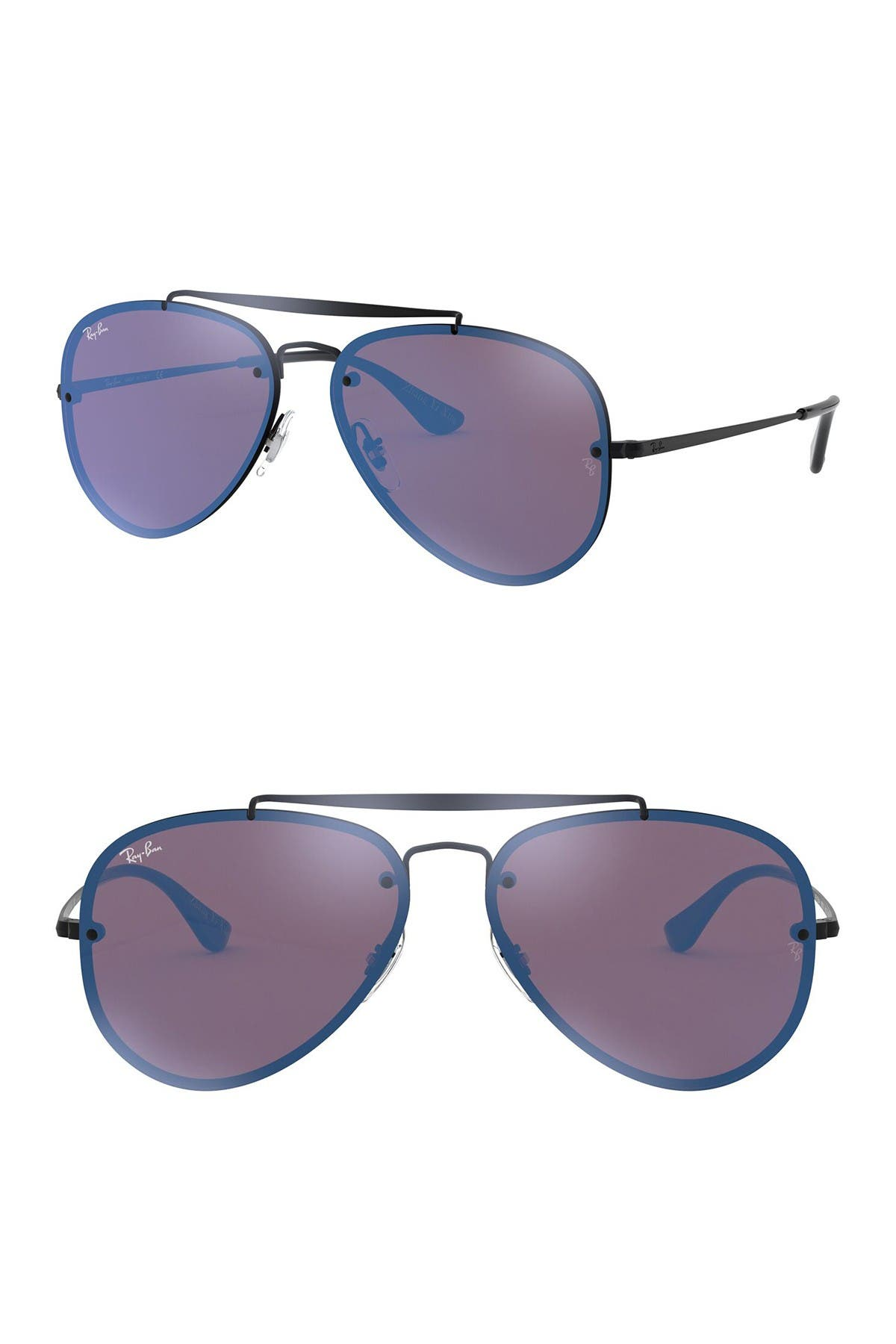 Image of Ray-Ban 61mm Mirrored Lens Aviator Sunglasses