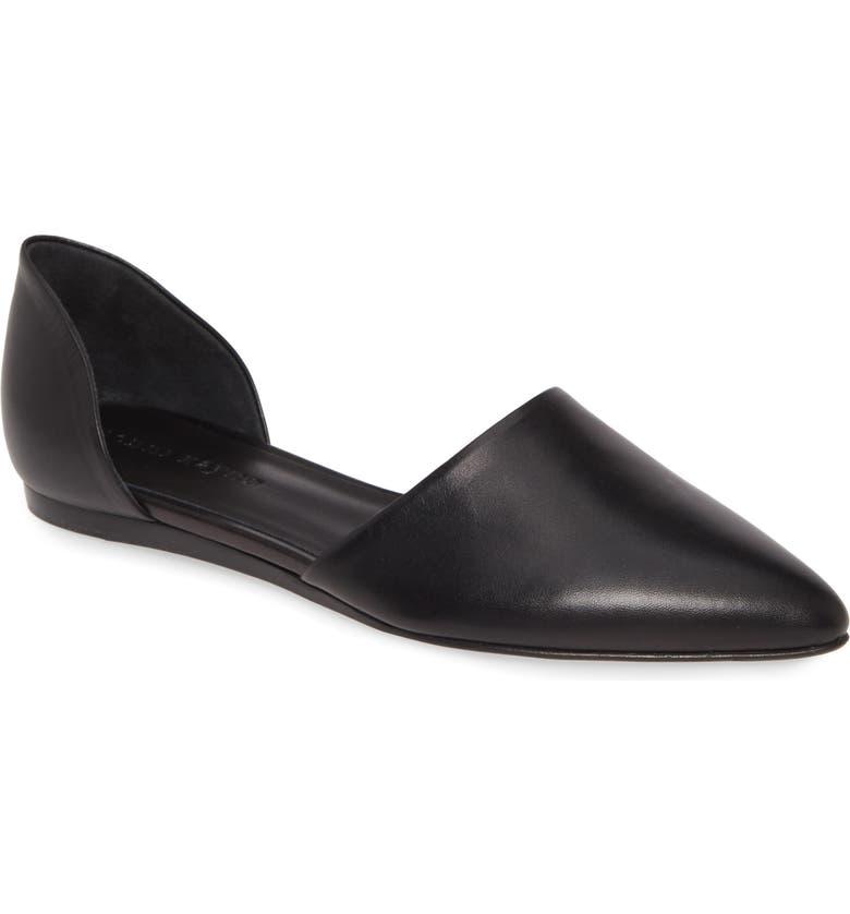 JENNI KAYNE d'Orsay Pointy Toe Flat, Main, color, BLACK