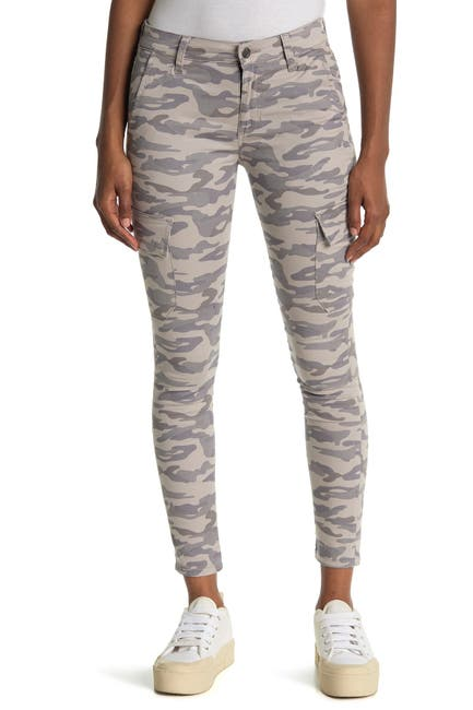 Image of Joe's Jeans Camo Print Mid Rise Ankle Crop Utility Skinny Jeans