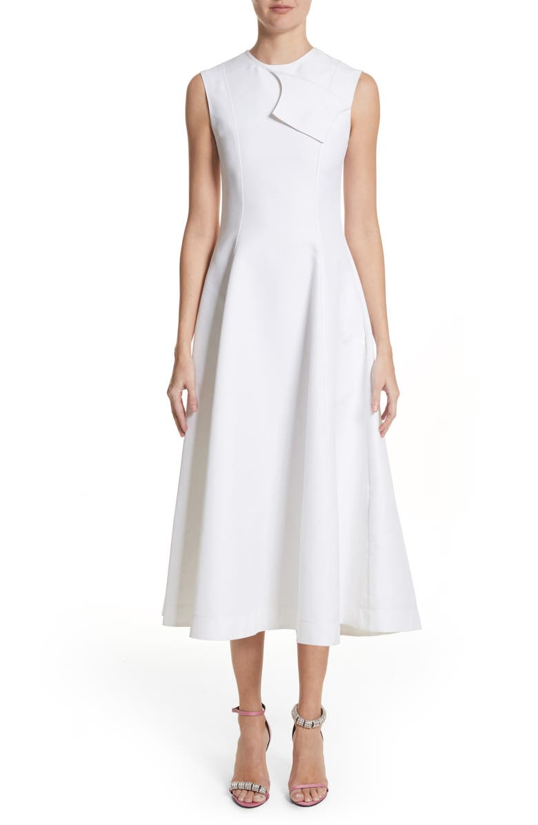 CALVIN KLEIN 205W39NYC Flap Detail A-Line Dress, Main, color, 100