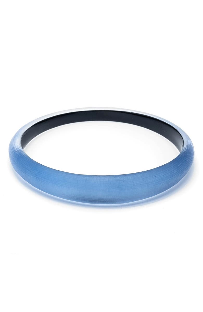 ALEXIS BITTAR 'Lucite<sup>®</sup>' Skinny Tapered Bangle, Main, color, HORIZON BLUE