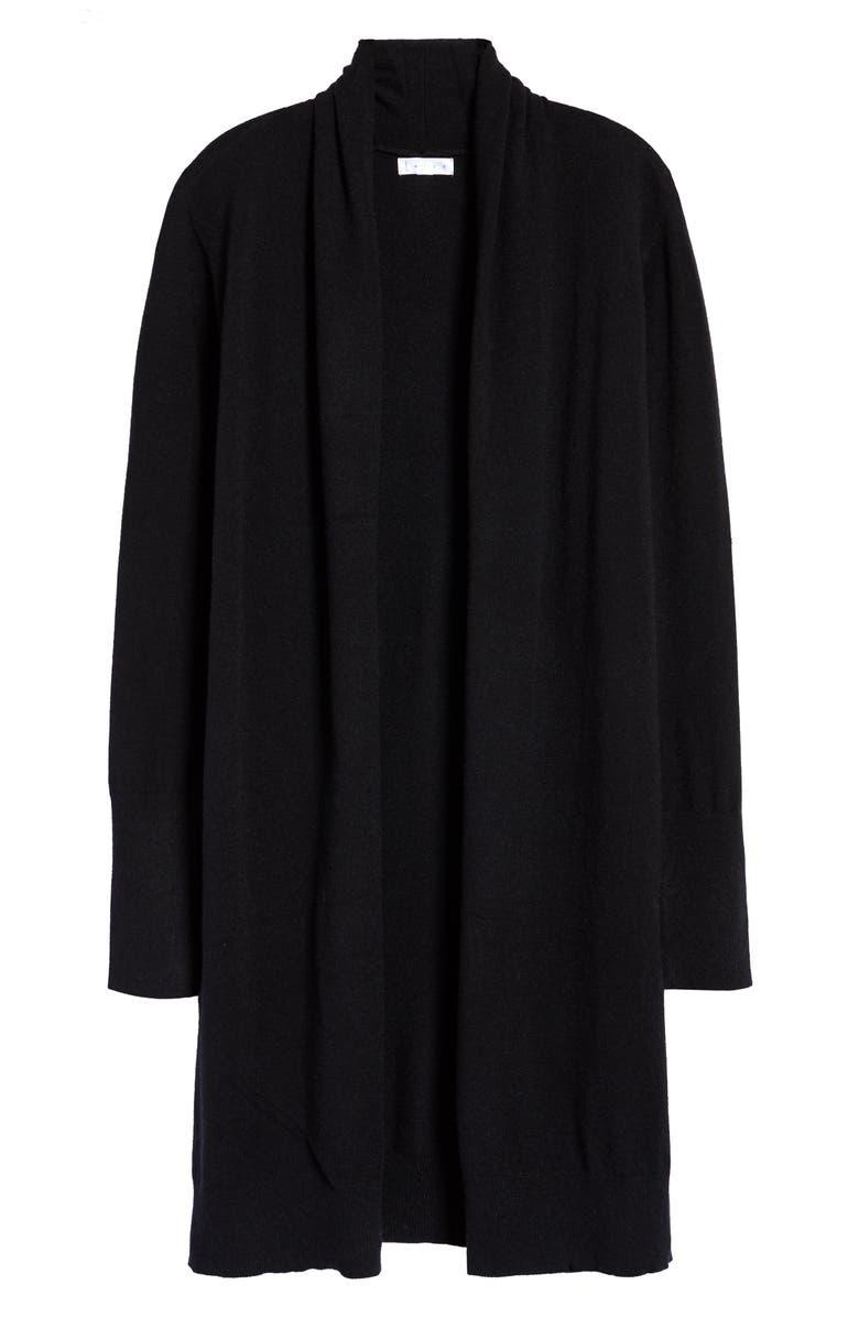 LEITH Cozy Long Cardigan, Main, color, BLACK