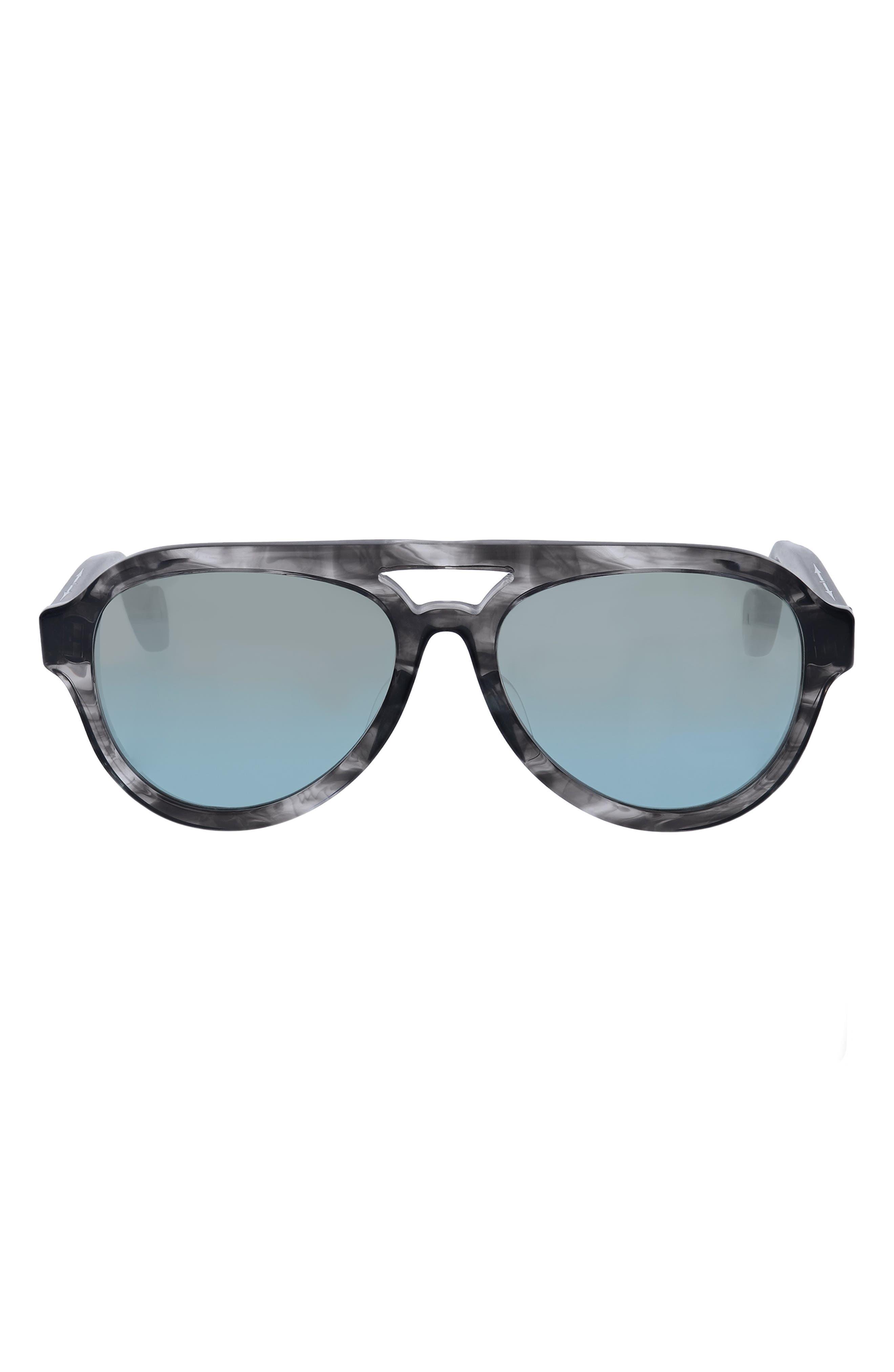 Las Vegas 55mm Gradient Aviator Sunglasses