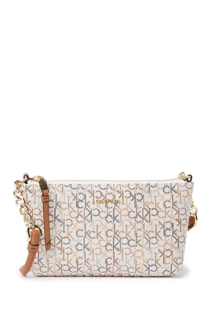 Image of Calvin Klein Hayden Key Item Monogram Crossbody