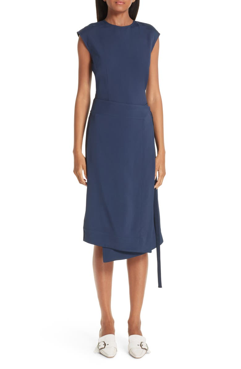 SIES MARJAN Noa Wrap Detail Dress, Main, color, 400