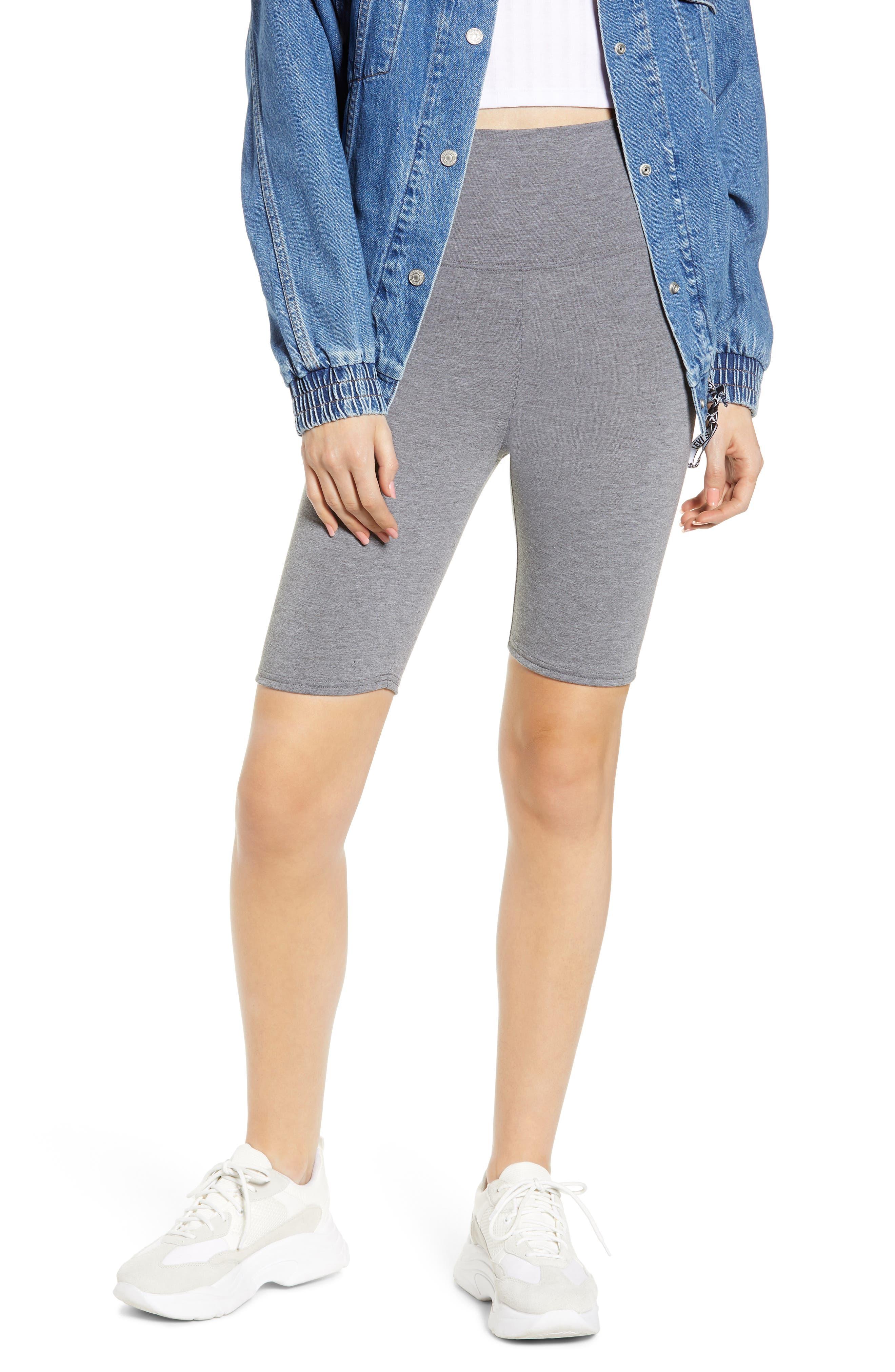 Make + Model High Waist Biker Shorts, Grey