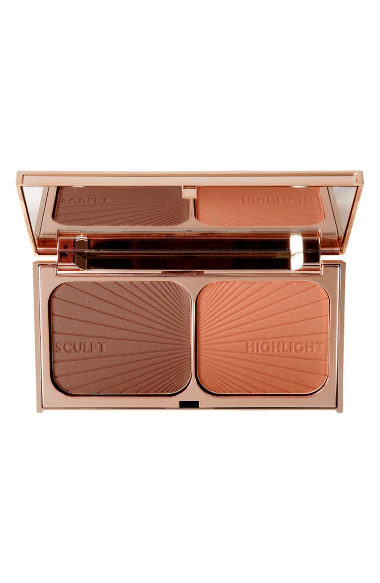 CHARLOTTE TILBURY Filmstar Bronze & Glow Medium to Dark Face Sculpt & Highlight, Main, color, NO COLOR