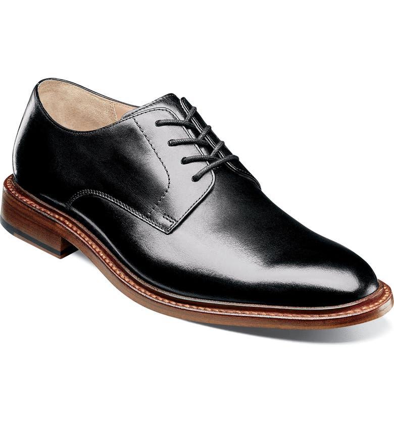 FLORSHEIM Imperial Mercantile Plain Toe Derby, Main, color, BLACK LEATHER