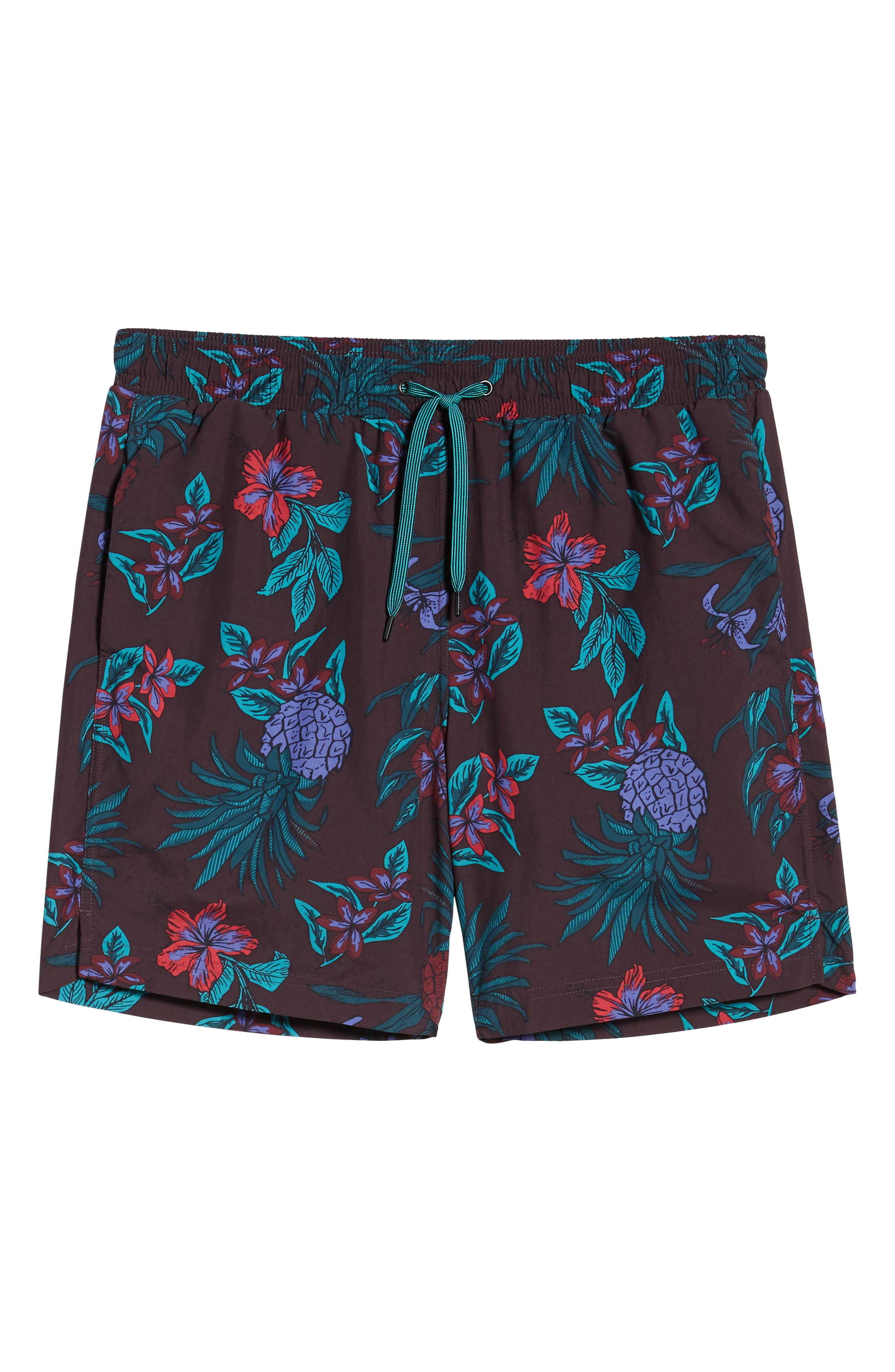 ,                             Pineapple Print Cannonball Swim Trunks,                             Alternate thumbnail 6, color,                             RED PINEAPPLE PARTY