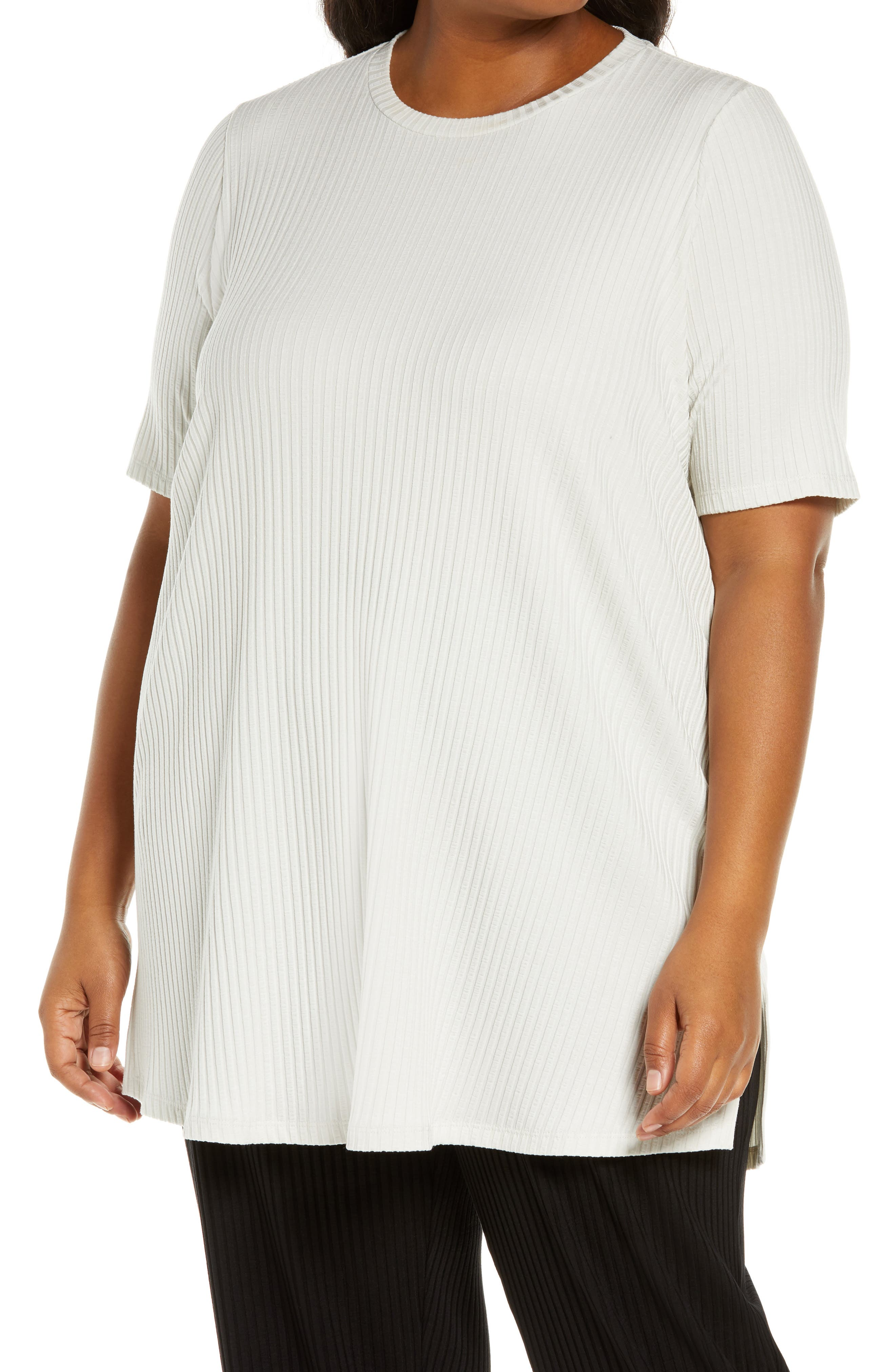 Eileen Fisher Ribbed Knit Tunic (Plus Size)   Nordstrom