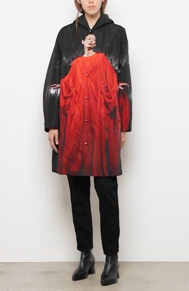 Suspiria Print Faux Shearling Lined Hooded Raincoat, video thumbnail