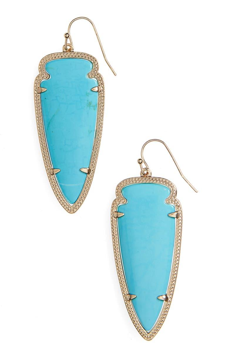 KENDRA SCOTT Skylar Spear Statement Earrings, Main, color, 440