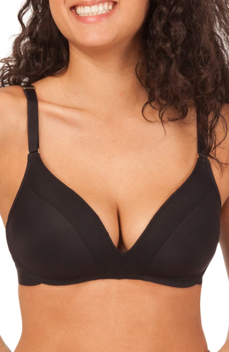 LIVELY The No-Wire Push-Up Bra, Main, color, JET BLACK