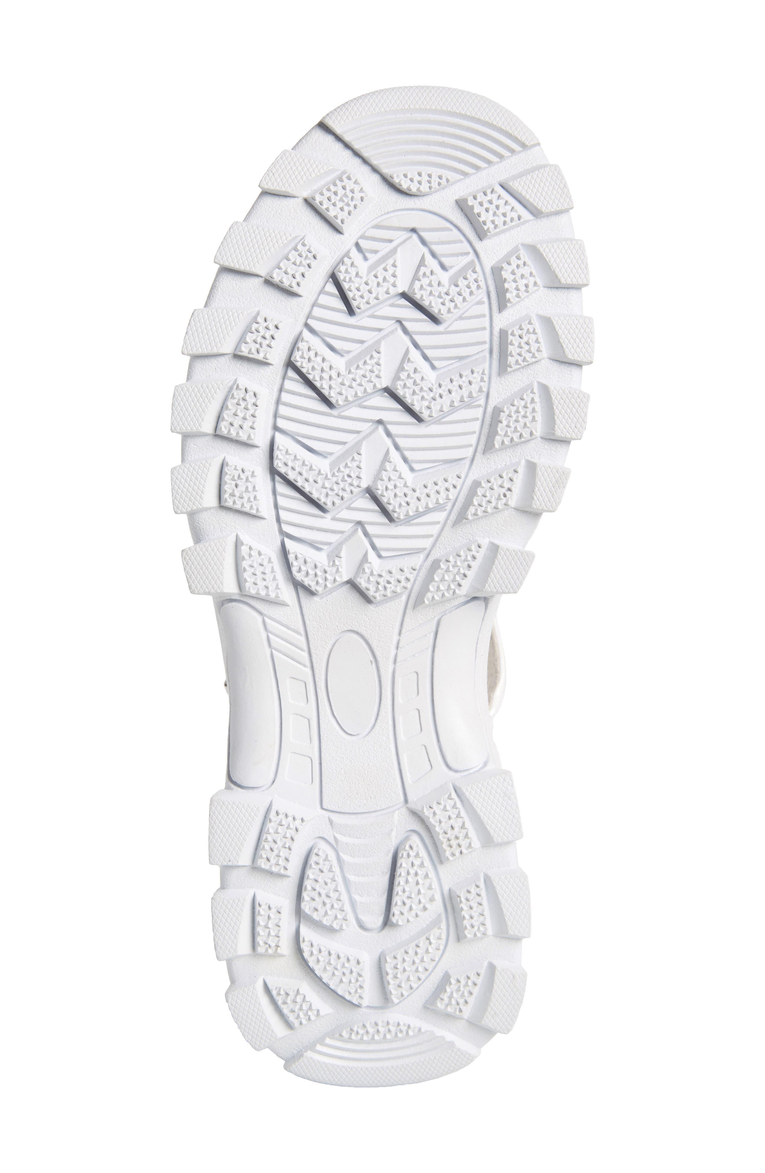 ,                             Patio Sport Sandal,                             Alternate thumbnail 6, color,                             WHITE PATENT LEATHER/ WHITE