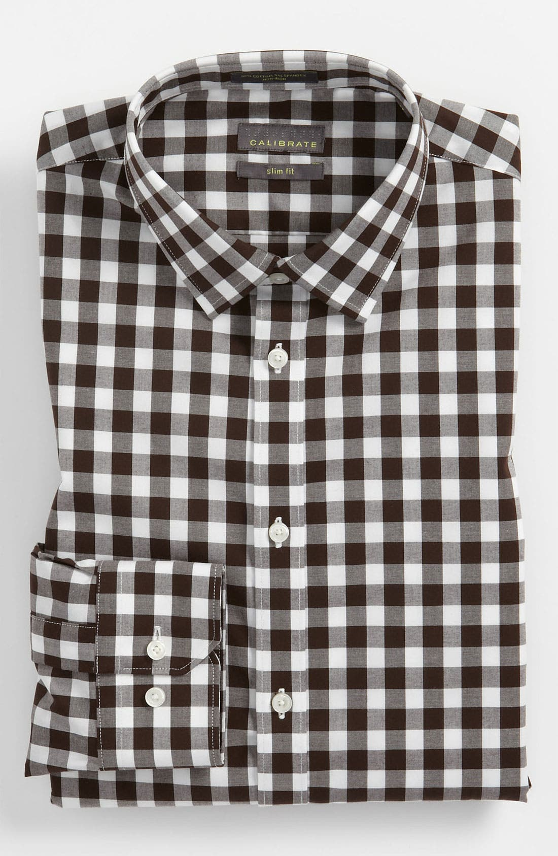 ,                             Slim Fit Non Iron Gingham Dress Shirt,                             Main thumbnail 3, color,                             200