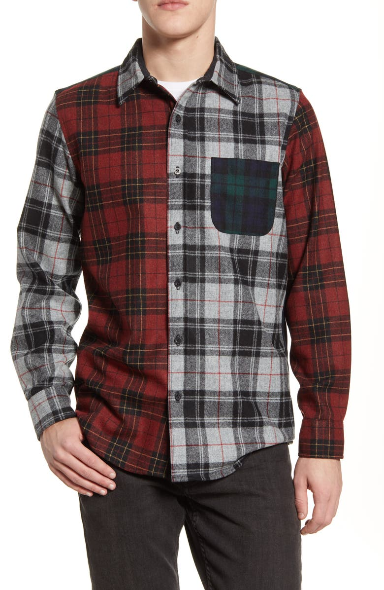 Pendleton The Mixed Plaid Button Up Wool Flannel Shirt Nordstrom [ 1196 x 780 Pixel ]