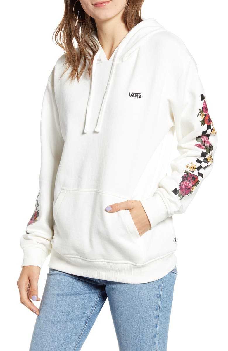 VANS Brunching Check Hoodie, Main, color, MARSHMALLOW