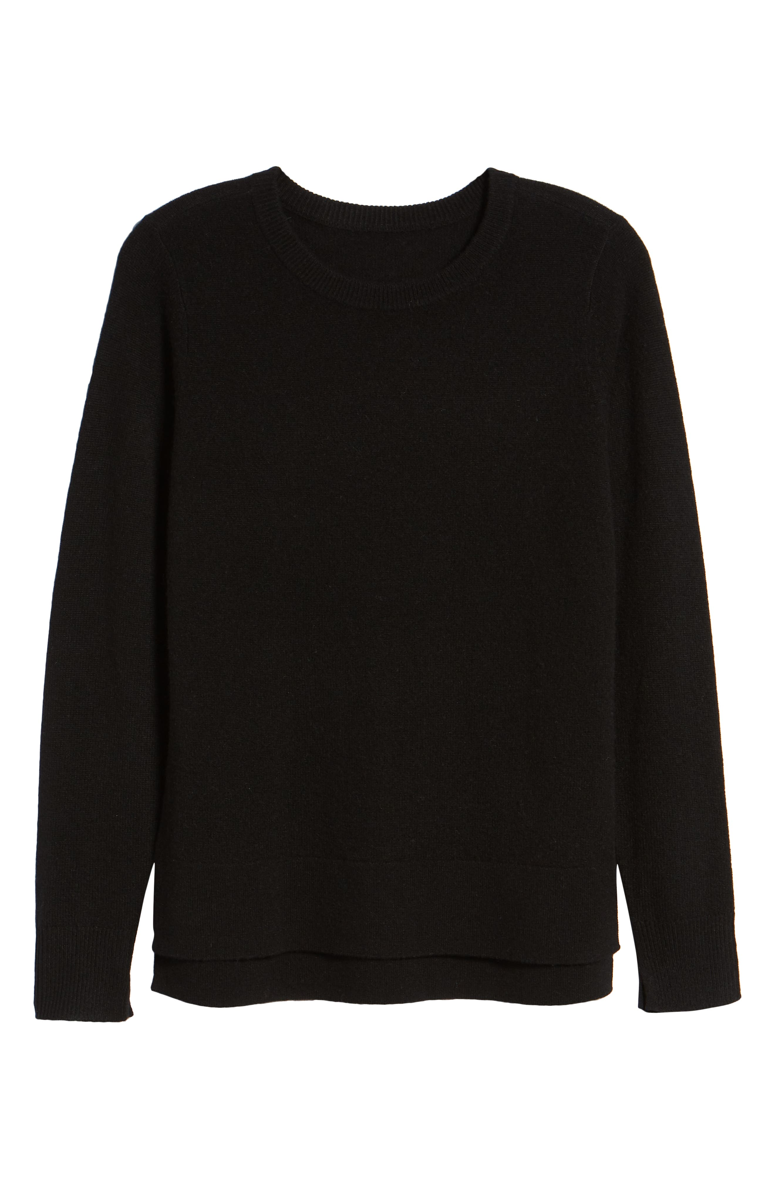 ,                             Crewneck Cashmere Sweater,                             Alternate thumbnail 246, color,                             001