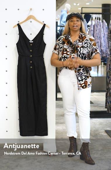 Vera Button Front Sleeveless Jumpsuit, sales video thumbnail