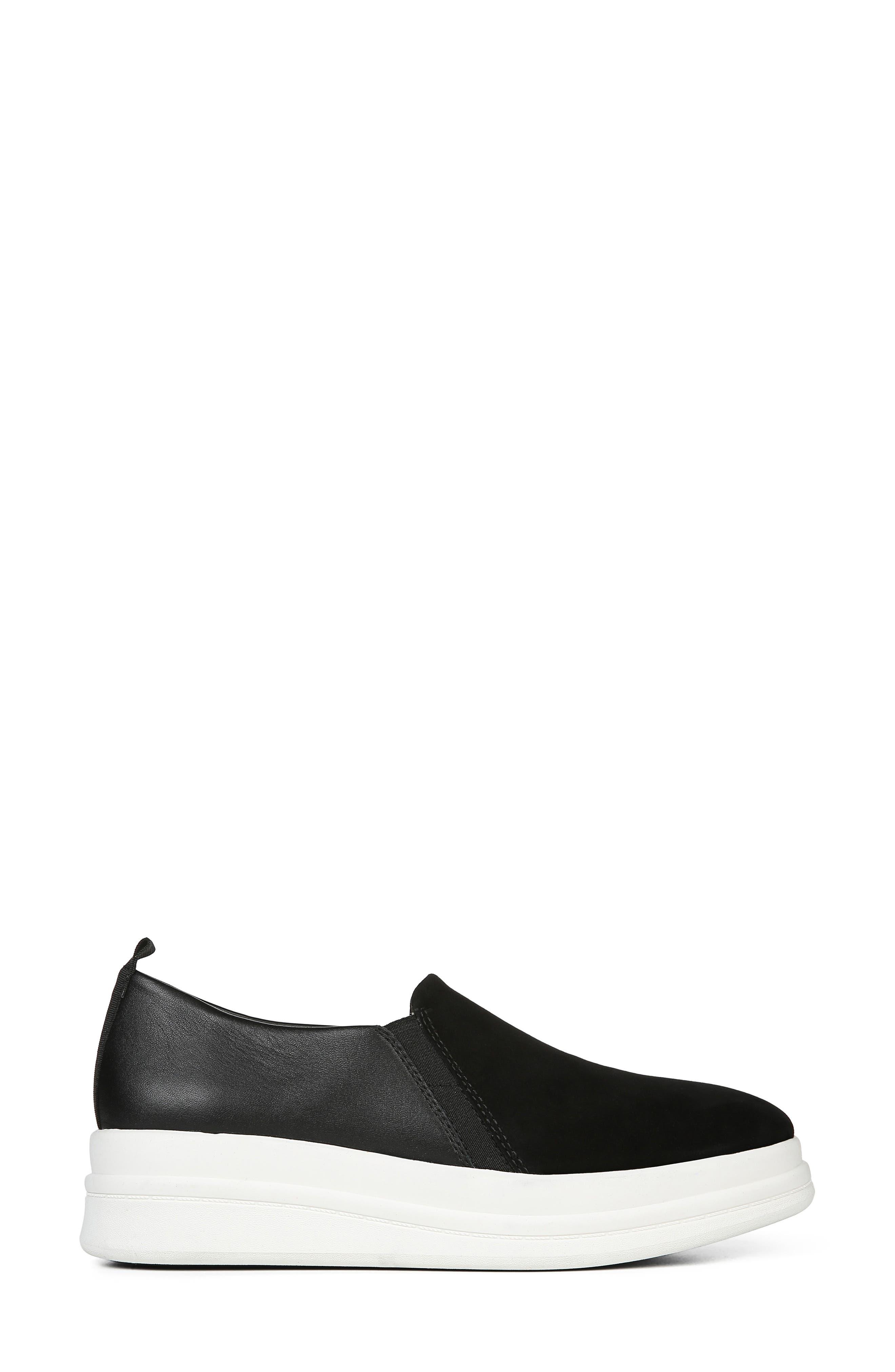 ,                             Yola Slip-On Sneaker,                             Alternate thumbnail 3, color,                             BLACK SUEDE/ LEATHER