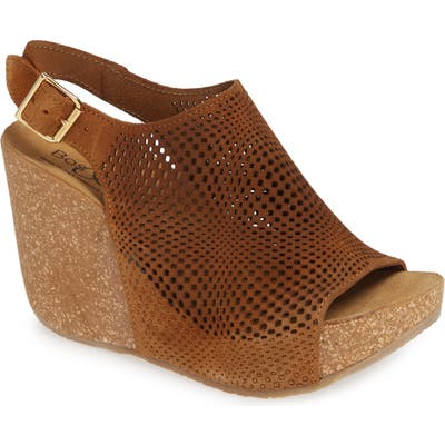 Bos. & Co. Savona Wedge Sandal, Brown