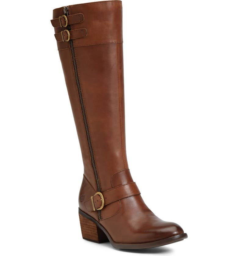 BØRN Swann Boot, Main, color, BROWN LEATHER