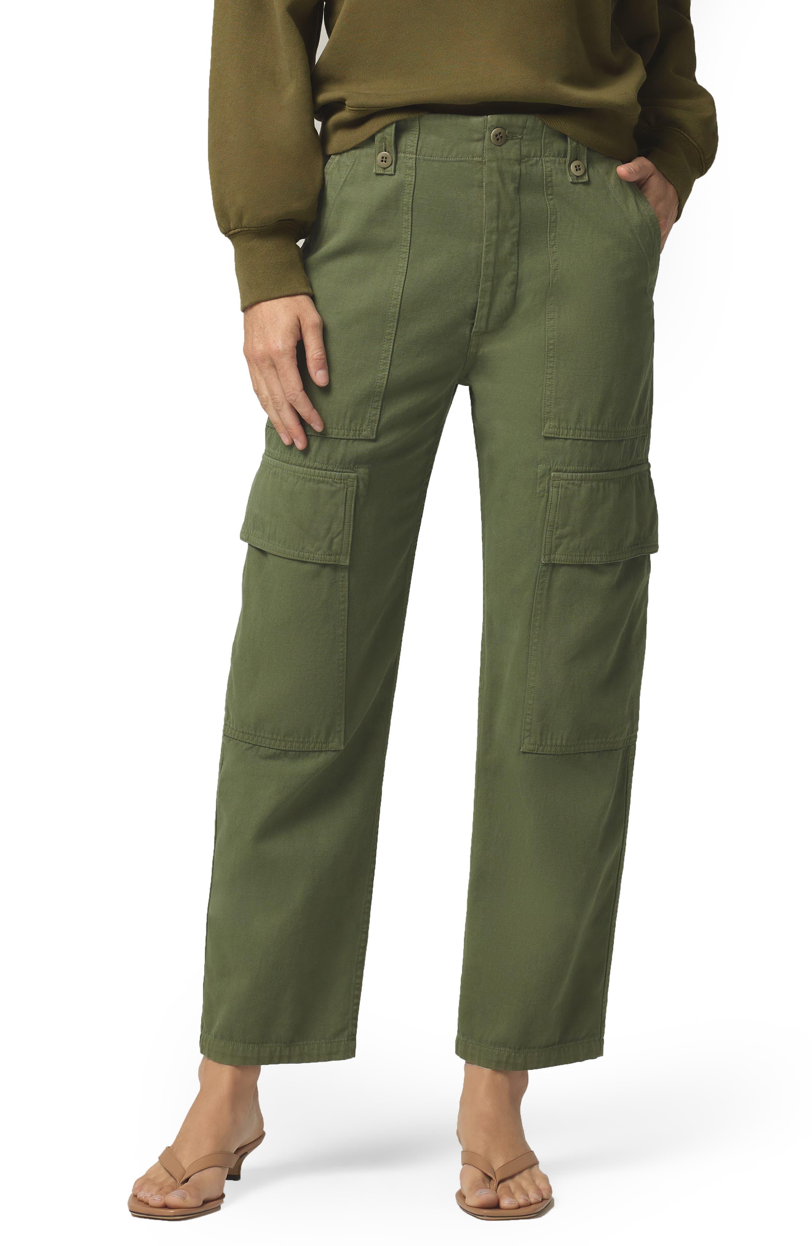 Women's Citizens Of Humanity Zadie High Waist Crop Surplus Pants,  27 - Green