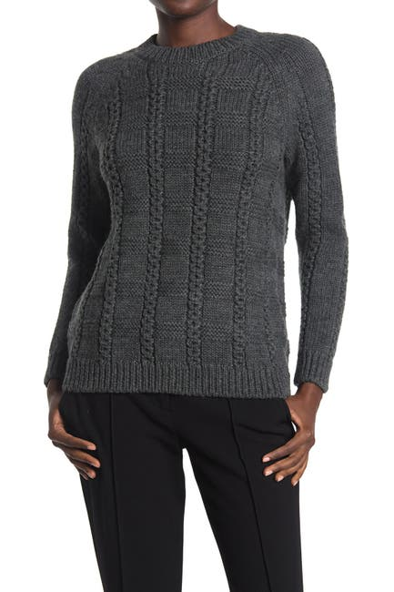 Image of RED Valentino Cable Knit Wool Sweater