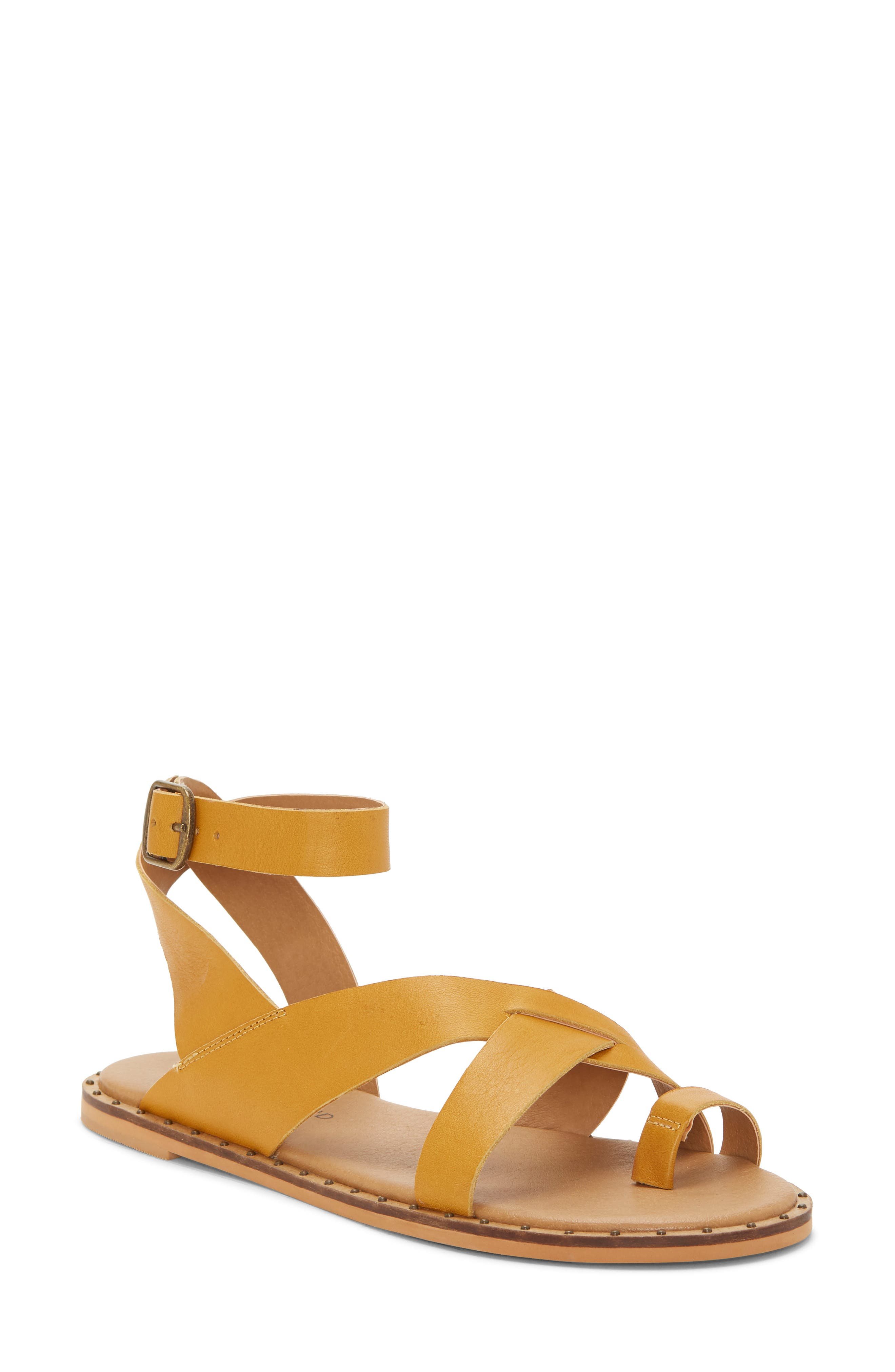 Lucky Brand Farran Toe Loop Sandal, Yellow