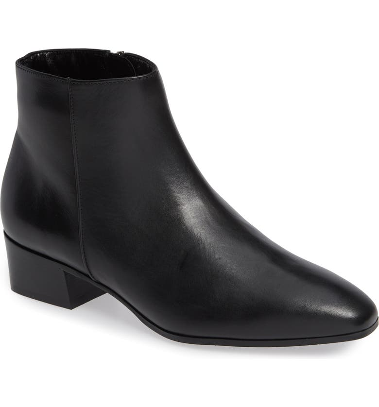 AQUATALIA Fuoco Water Resistant Bootie, Main, color, BLACK LEATHER
