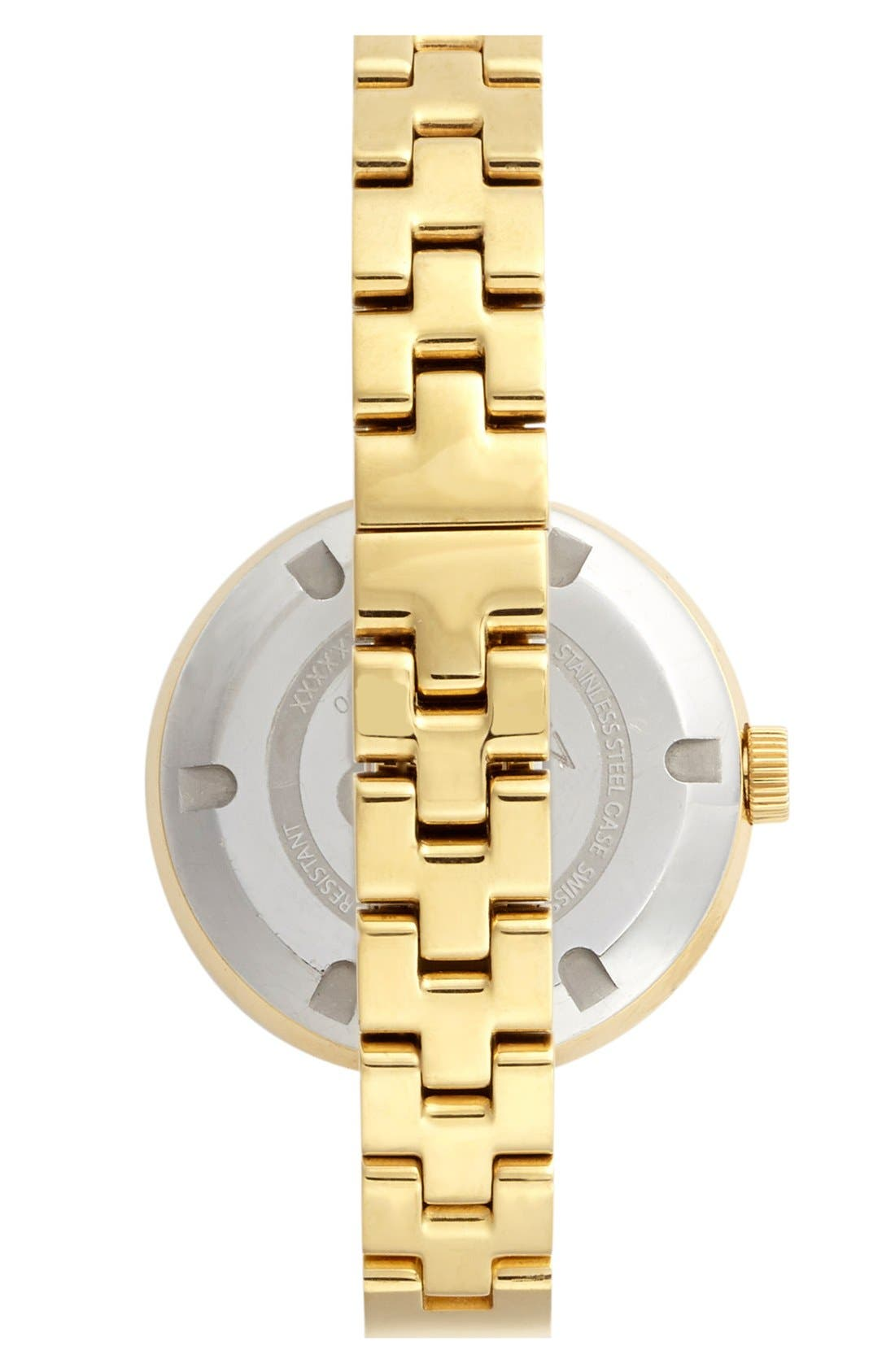 ,                             'Bold' Crystal Accent Bangle Watch, 34mm,                             Alternate thumbnail 3, color,                             GOLD