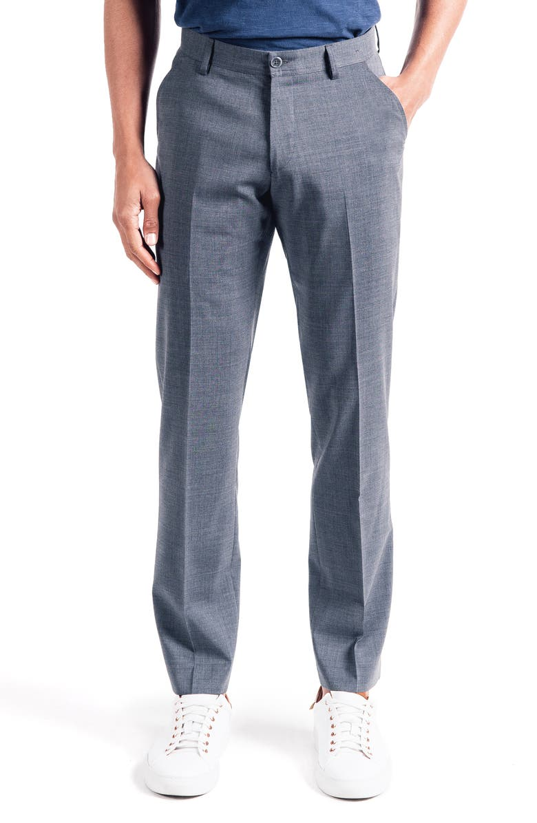 GOOD MAN BRAND Soho Slim Fit Flat Front Stretch Cotton Trousers, Main, color, 030